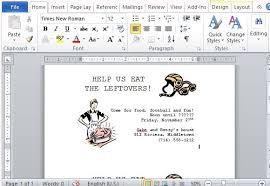 How To Create Invitations On Word How To Create Thanksgiving Leftovers Party Invitation