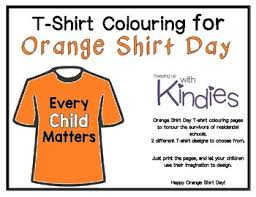 Ruffled ribbon christmas tree shirt tutorial. Orange Shirt Day T Shirt Colouring Pages Freebie By Keeping Up With Kindies