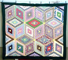 Depression Era Quilts – co-nnect.me & ... Depression Era Quilts For Sale Breathtaking Vintage Antique 1930s  Hexagons Quilt Tumbling Blocks Diamonds Stars 39500 ... Adamdwight.com