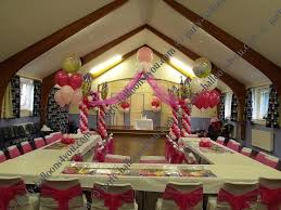 wedding balloons fresh silk flowers pew end bows chair cover