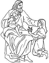 Jezus En Kinderen Kleurplaat Gratis Kleurplaten Printen