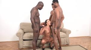Three Negro fucking white girl in the ass and pussy big Dicks HD.