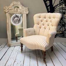 vintage style chairs. Simple Vintage Russian Linenstripestripeystriped Chairupholsteredbutton Back Vintage Throughout Vintage Style Chairs T