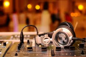 hi-tech technology amplifier remote mixer sound music dj dj headphones  headphones music party blur