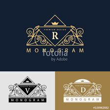 Artist Website Templates Awesome Monogram Design Elements Graceful Template Elegant Line Art Logo