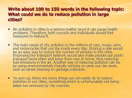 Essay Environment Pollution Environment Pollution Essay 100 Words