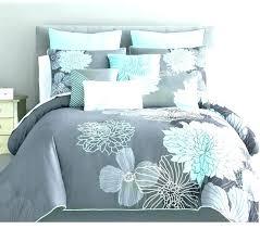 light grey quilt light blue