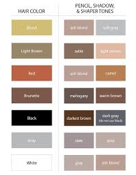 Color Chart For Eyebrows By Bobbi Brown In 2019 How To
