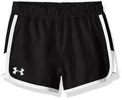 under armour shorts for girls. under armour little girls\u0027 fast lane short, black/white, shorts for girls h