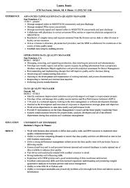 Quality Resume Samples Data Quality Manager Resume Samples Velvet Jobs in Quality Manager 57