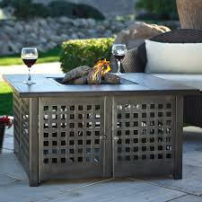 allen and roth outdoor fireplace grey slate top gas fire pit with free cover propane gas allen and roth outdoor fireplace