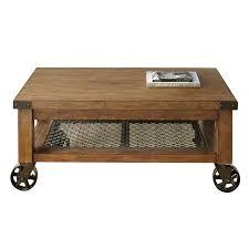 steve silver hailee coffee table in distressed oak