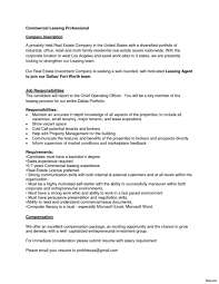 Leasing Agent Job Description For Resume Samples Of Resumes Sample