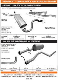 gmc united muffler corporation 2005 up gm vans dura max 6 6 litre diesel