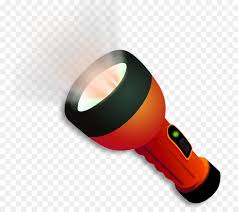 flashlight cartoon se lighting illuminated flashlight