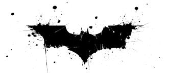 Batman Logo an die Wand malen (streichen)