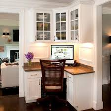office built in furniture. Small Office Design With Built-in Furniture In Corners Built