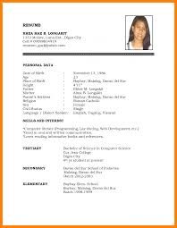 Pin By Avellen Mazzie On Anime Job Resume Format Biodata Format