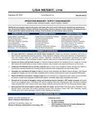 Supply Chain Management Resume Objective Valid Supply Chain