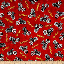 Quilting Fabric, biker for life - Fabric.com & Biker For Life Motorcycle Toss Red Adamdwight.com