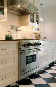 Checkerboard Kitchen Floor Spice Up Your Kitchen Tile Backsplash Ideas Classic Cabinets