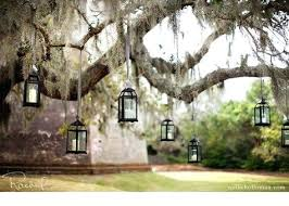 tree lighting ideas. Hanging Tree Lighting Ideas For An Outdoor Wedding I
