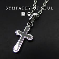 sympathy of soul silver cross necklace smooth cross pendant m silver mens womens uni sympathy of soul pendant accessories