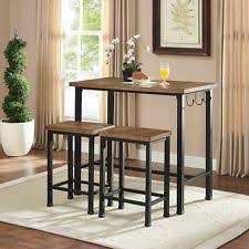 pub table bar set 2 stools chairs 3 piece kitchen breakfast nook dining bistro breakfast nook table