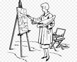 painting easel artist drawing painting