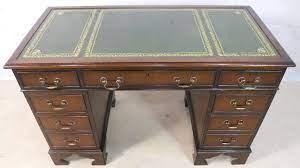 antique georgian style mahogany leather