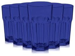 libbey cobalt glasses cooler glass set of 6 blue libbey cobalt blue water goblets standard rocks