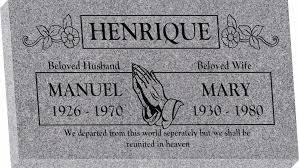 Design My Own Headstone 28 X 16 X 3 Flat Granite Headstone