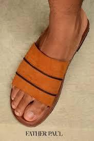 Suede Sliders Handmade Slides <b>Summer Sandals Men Summer</b> ...
