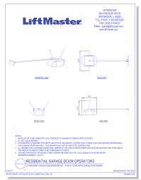 cad drawings liftmaster chamberlain group inc liftmaster contractor series 8365