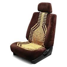 pilot brown wood bead seat cushion