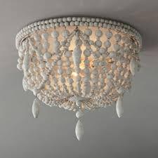 lights wooden beads flush mount light