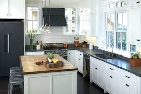 black countertops white cabinets black black refrigerator white cabinets dark what color floor white cabinets black