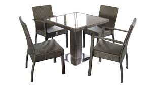 Small Outdoor Table Set Small Patio Table Set Furniture Dark Wicker Porch Ottoman Chairs