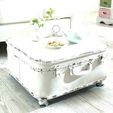 white trunk coffee table white trunk coffee table white trunk coffee table view in gallery white shabby chic suitcase with feet added to it white steamer