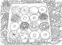 Small Picture donuts doughnuts adult coloring page gift wall art by Kawanish