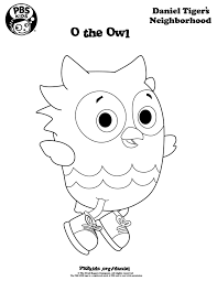 Daniel Tiger Coloring Page Coloring Daniel Tigers Neighborhood Pbs