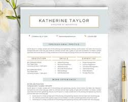 Resume Template | Etsy