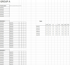 6 Free Tournament Schedule Templates In Ms Word And Ms Excel