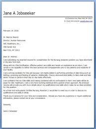 Cover Letter Samples Nursing Assistant Cover Letter For Ain Nursing