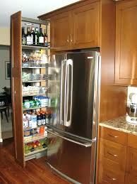 narrow pull out pantry cabinet fridge gap slide rolling e rack full size of rev a slide out