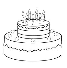 Colouring Pages Birthday Cake Trustbanksurinamecom