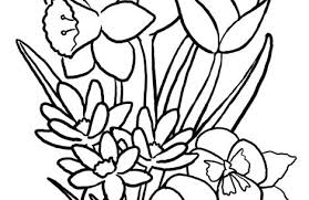 Spring Flower Coloring Pages Spring Flowers Coloring Pages Sheets