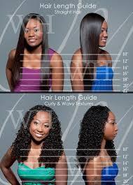 Hair Length Chart Weave Straight Hair Weave Extensions Length Guide Chart Hair Lengths