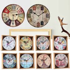 home room antique decor wall clocks decoration clock shabby chic retro kitchen