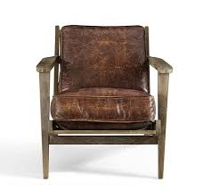 raylan leather armchair pottery barn in brown chair decorations 1